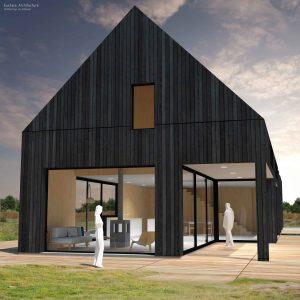 Duurzame vrijstaande particuliere zelfbouw gezinswoning (kopse zijde) - Blackhouse | Eustace Architectuur