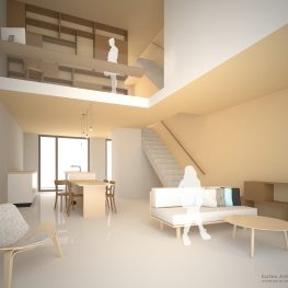 Duurzame particuliere zelfbouw gezinswoning (interieur) - Casa Madera | Eustace Architecture