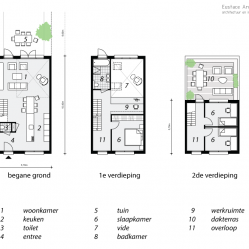 Duurzame particuliere zelfbouw gezinswoning (plattegrond) - Casa Madera | Eustace Architecture