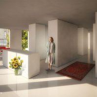 Duurzame CPO zelfbouw loft appartementen (interieur beeld appartement woonkamer) - Loft casco appartementen | Eustace Architectuur