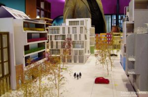 Duurzame CPO zelfbouw loft appartementen (foto maquette B) - Loft casco appartementen | Eustace Architectuur