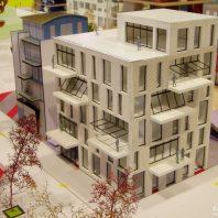 Duurzame CPO zelfbouw loft appartementen (foto maquette C) - Loft casco appartementen | Eustace Architectuur