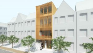 Duurzame particuliere zelfbouw meer generatie gezinswoning (gevelbeeld A) - Stek | Eustace Architectuur