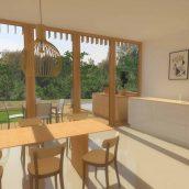 Duurzame particuliere zelfbouw meer generatie gezinswoning (interieur begane grond) - Stek | Eustace Architectuur