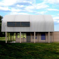 Onderdak - vrijstaande woning - comp2 achtergevel - Jos Blom architect