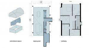 Onderdak - vrijstaande woning - plattegrond - Jos Blom architect